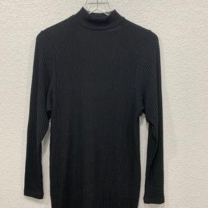 Splendid Dresses - Splendid Choker V-neck Stretch Mini Dress Black